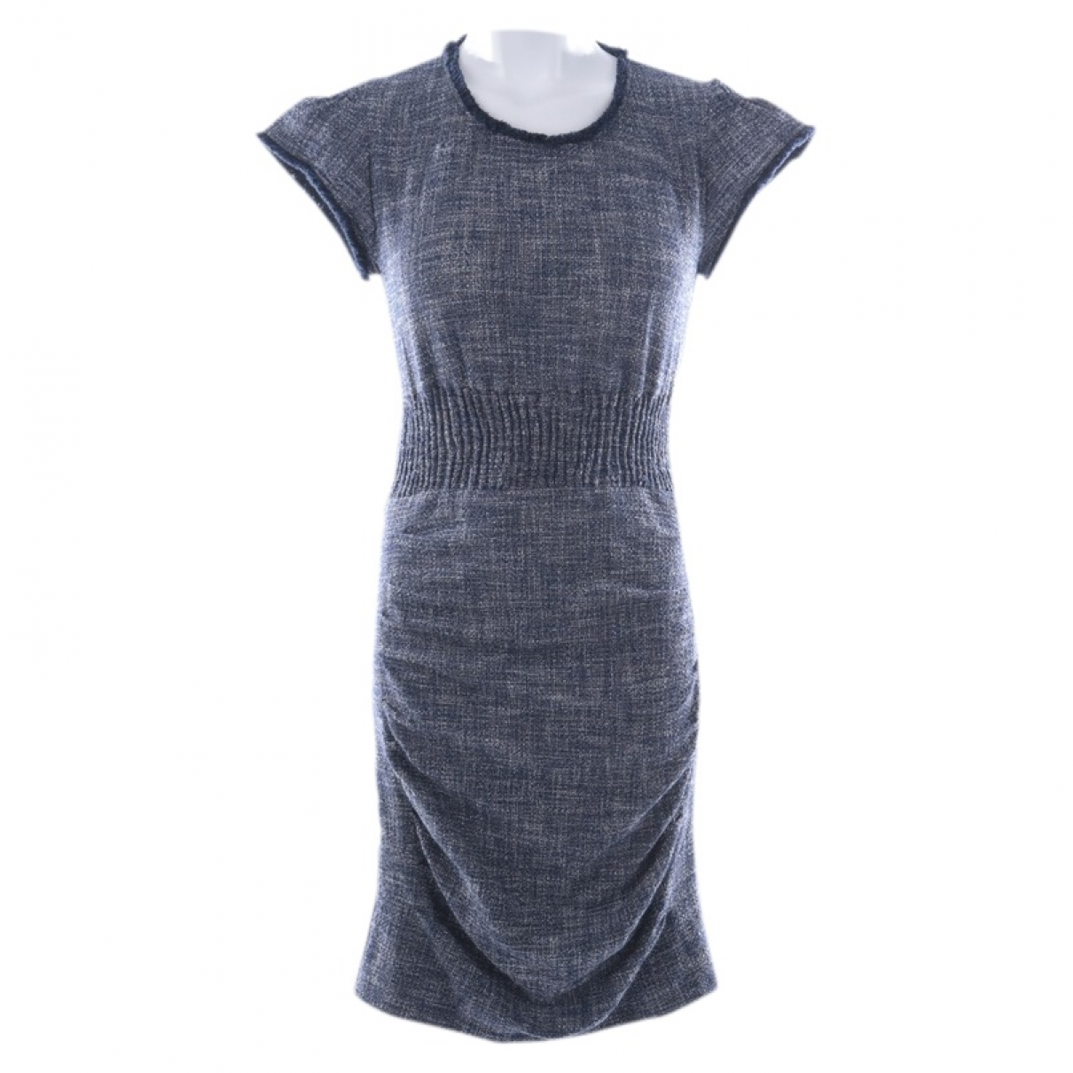 Maje \N Blue Cotton dress for Women 36 FR