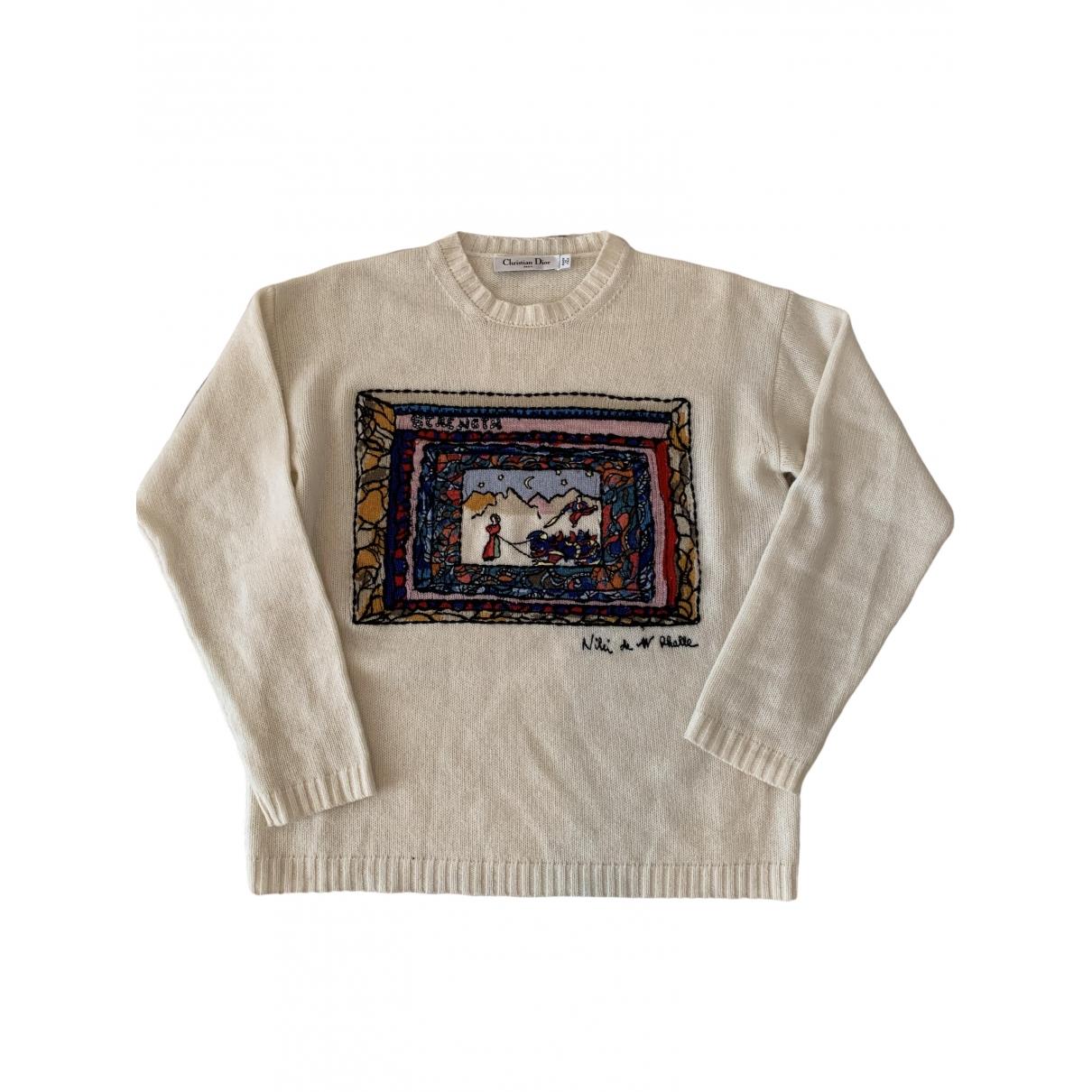 Dior \N Ecru Cashmere Knitwear for Women 40 FR