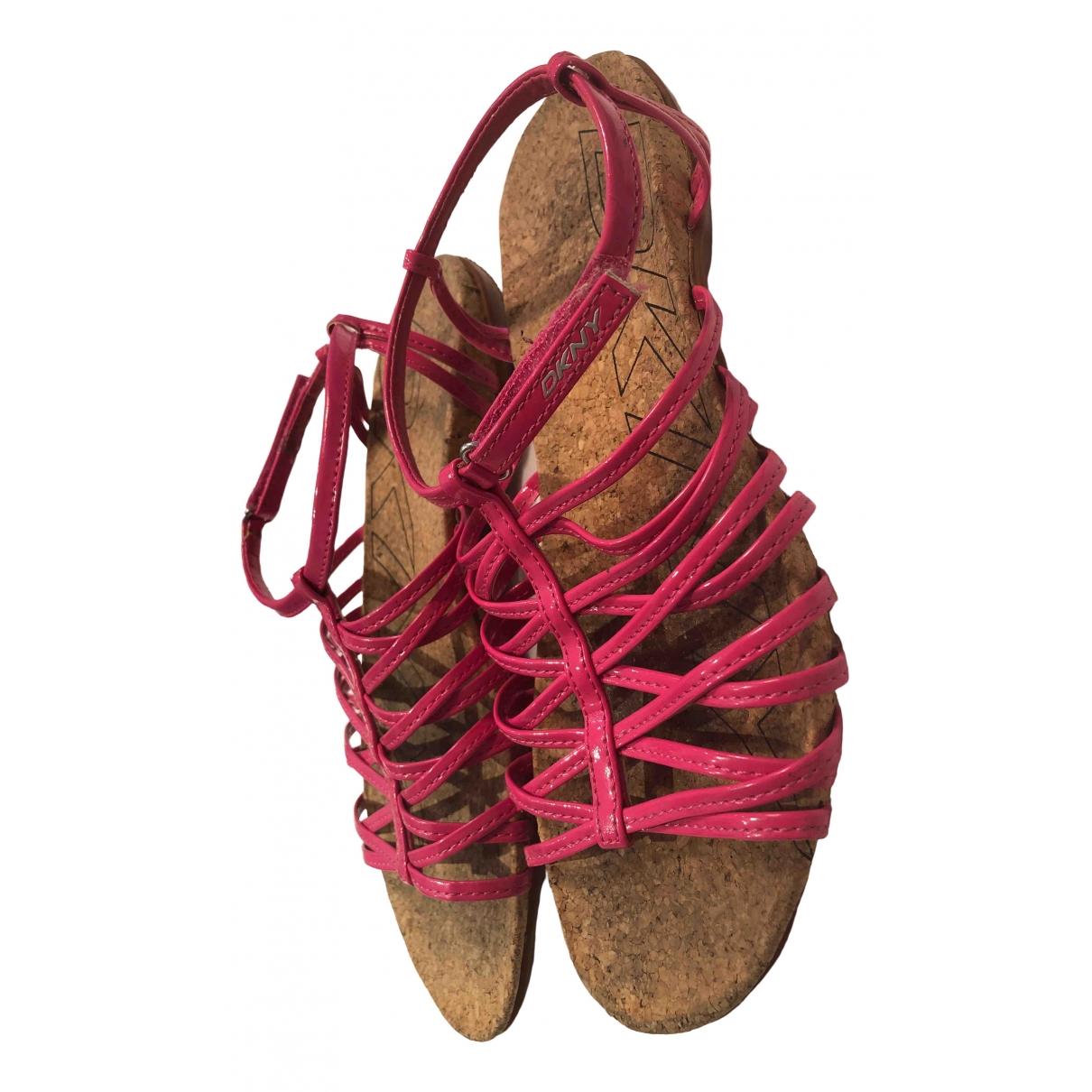 Sandalias romanas de Cuero Dkny