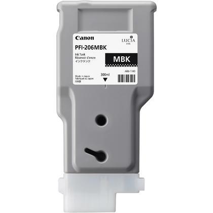 Canon PFI-206MBK 5302B001AA Original Matte Black Ink Cartridge
