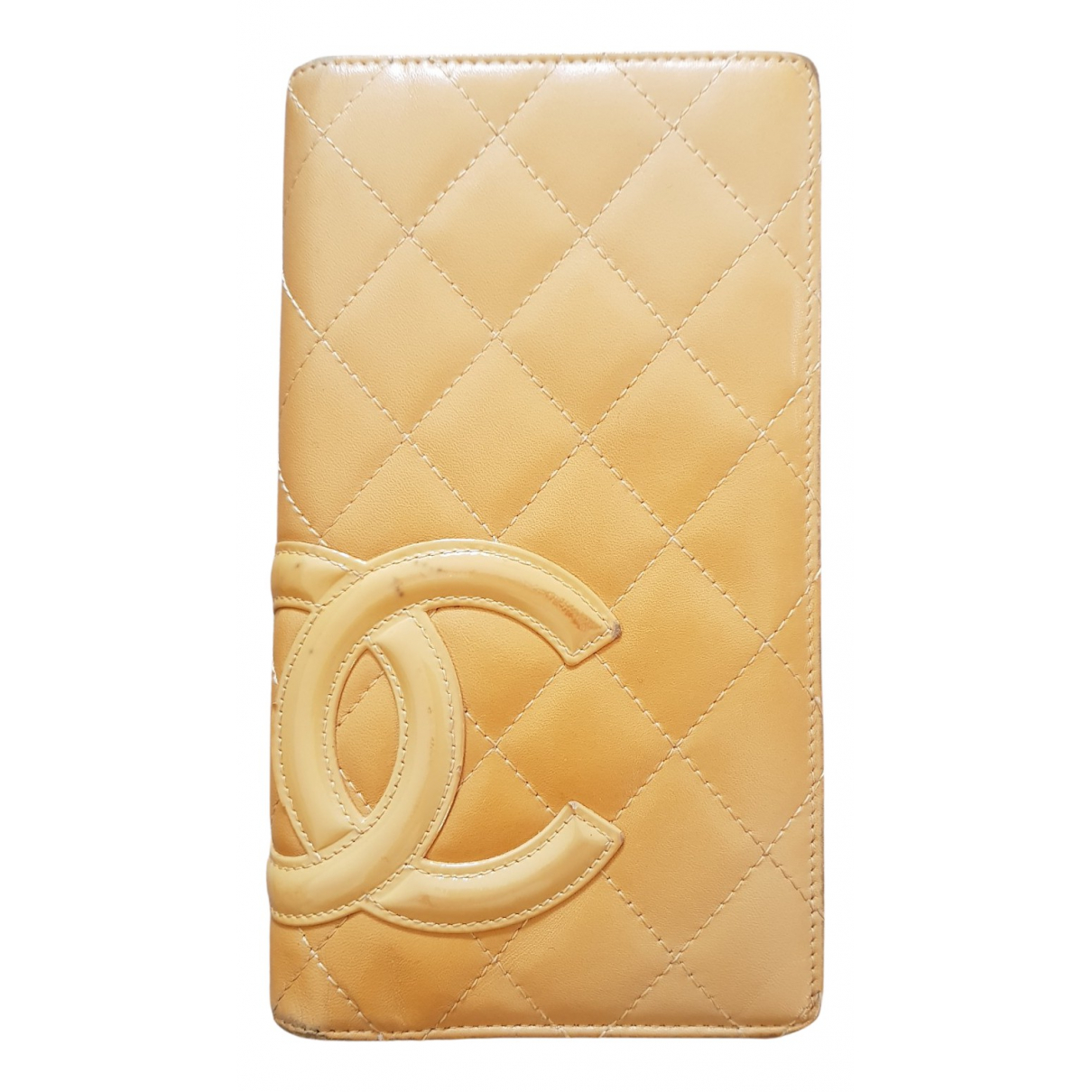 Chanel Cambon Beige Patent leather wallet for Women N