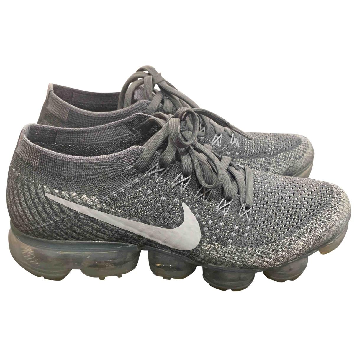 Nike - Baskets Air VaporMax pour femme en toile - gris