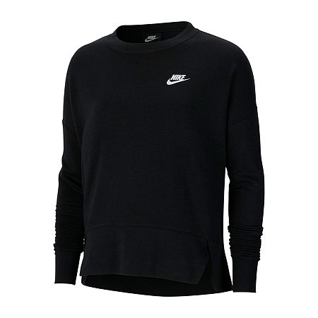 Nike Womens Crew Neck Long Sleeve Sweatshirt, Medium , Black