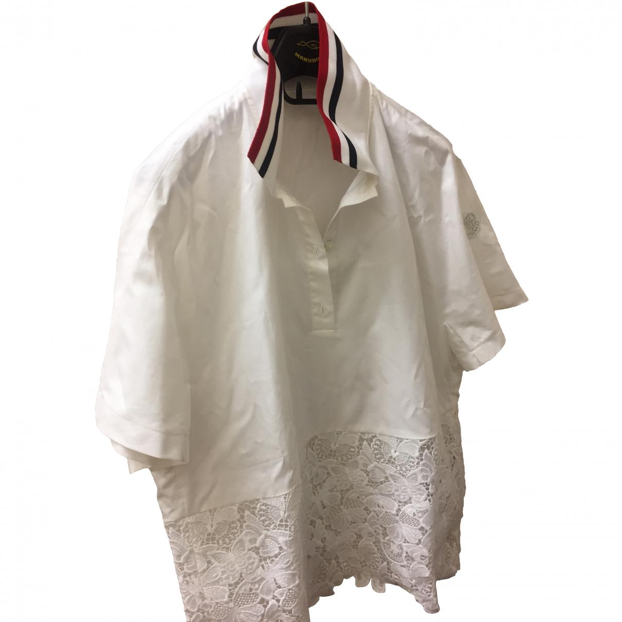 Moncler - Top   pour femme en soie - blanc