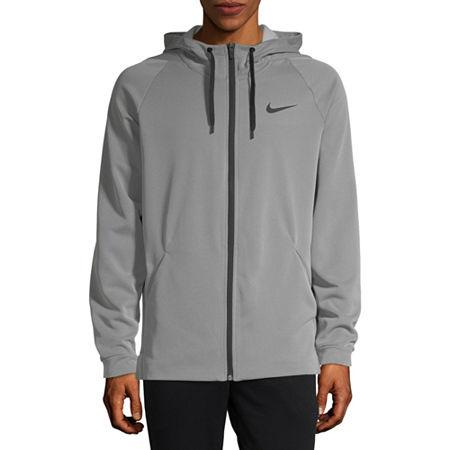 Nike Mens Long Sleeve Moisture Wicking Hoodie, Large , Gray