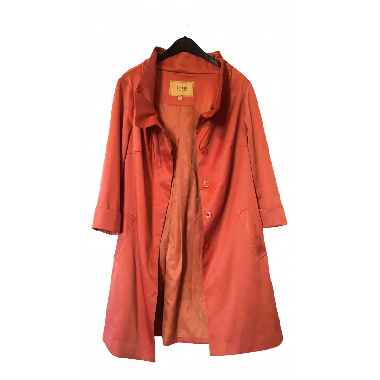 Non Signé / Unsigned \N Orange Silk Trench coat for Women 36 FR