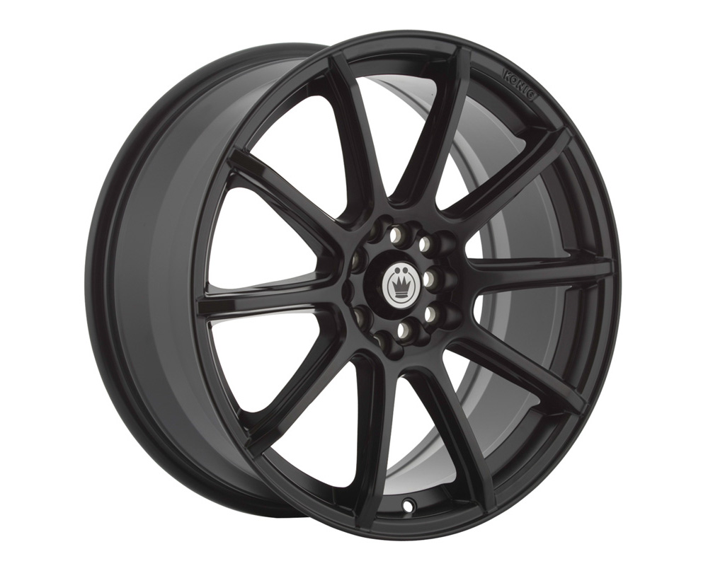 Konig Control Matte Black Wheel 16x7 4x100/114.3 40