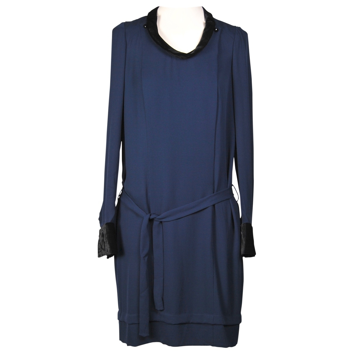 Balenciaga \N Kleid in  Marine Seide