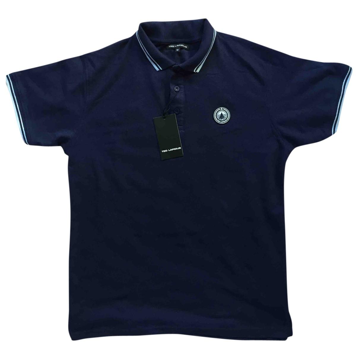 Ted Lapidus - Polos   pour homme en coton - bleu