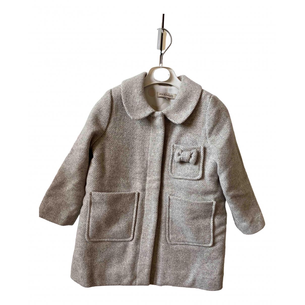 Hucklebones - Blousons.Manteaux   pour enfant en laine - gris
