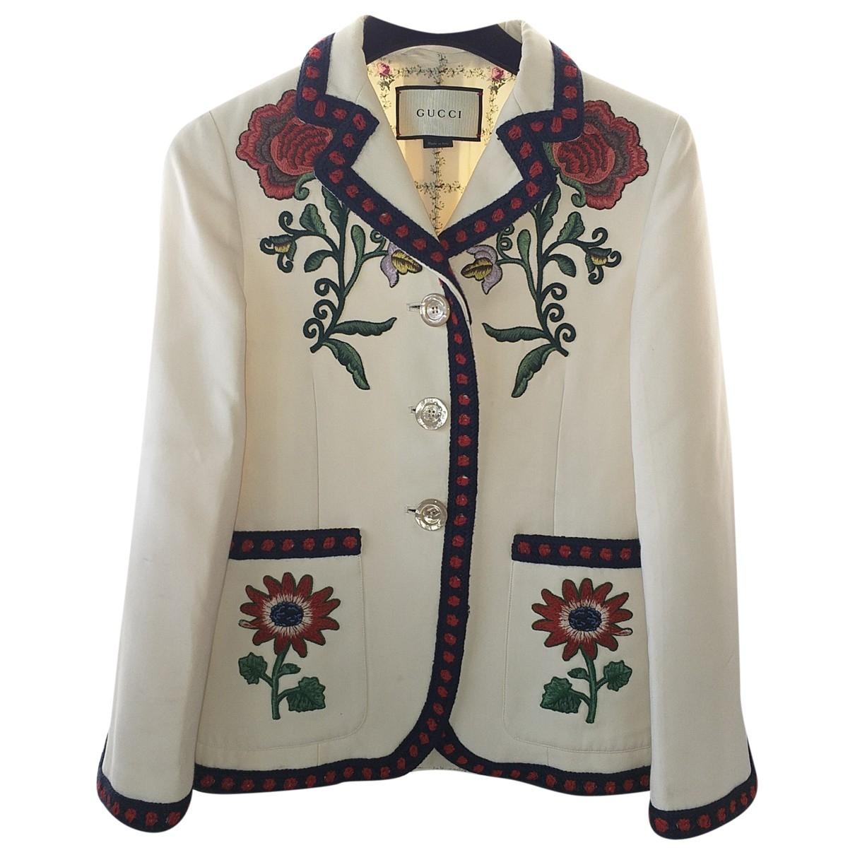 Gucci \N White Silk jacket for Women 36 IT