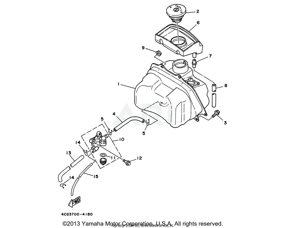 Yamaha OEM 3KJ-24110-02-00 FUEL TANK