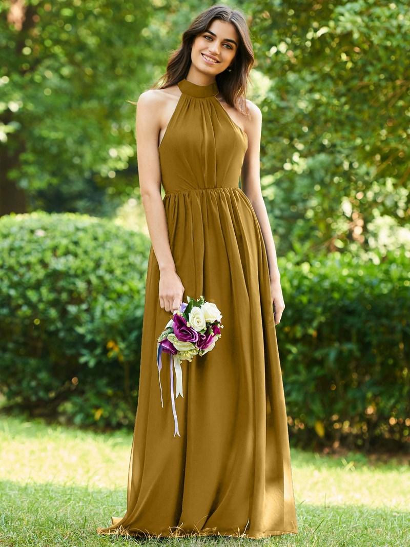 Ericdress Halter A-Line Backless Bridesmaid Dress