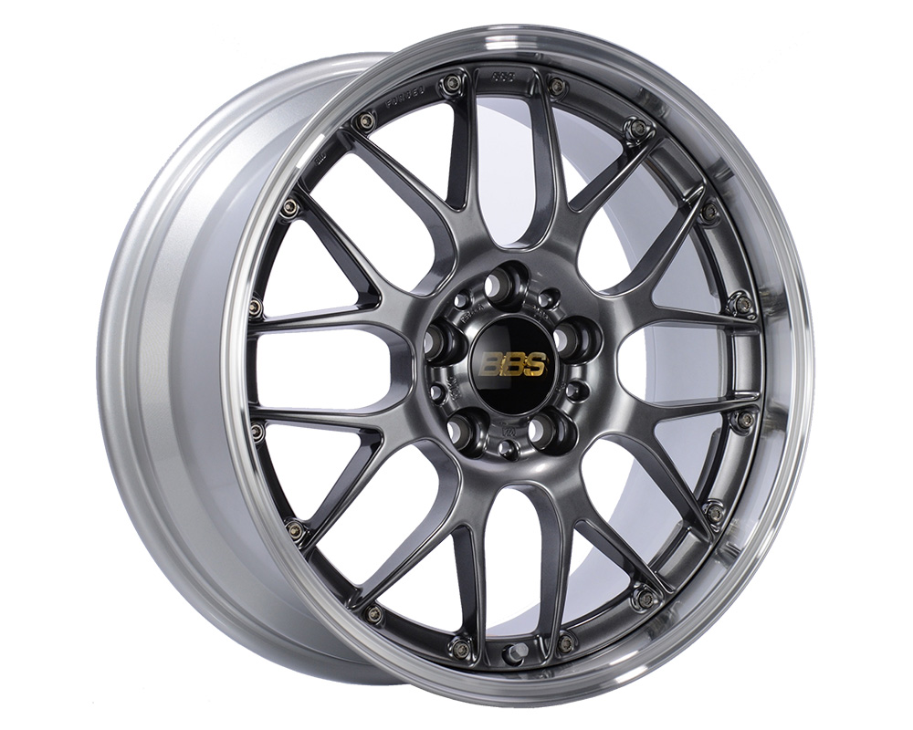 BBS RS-GT Wheel 18x10 5x130 65mm Diamond Black | Diamond Cut Rim