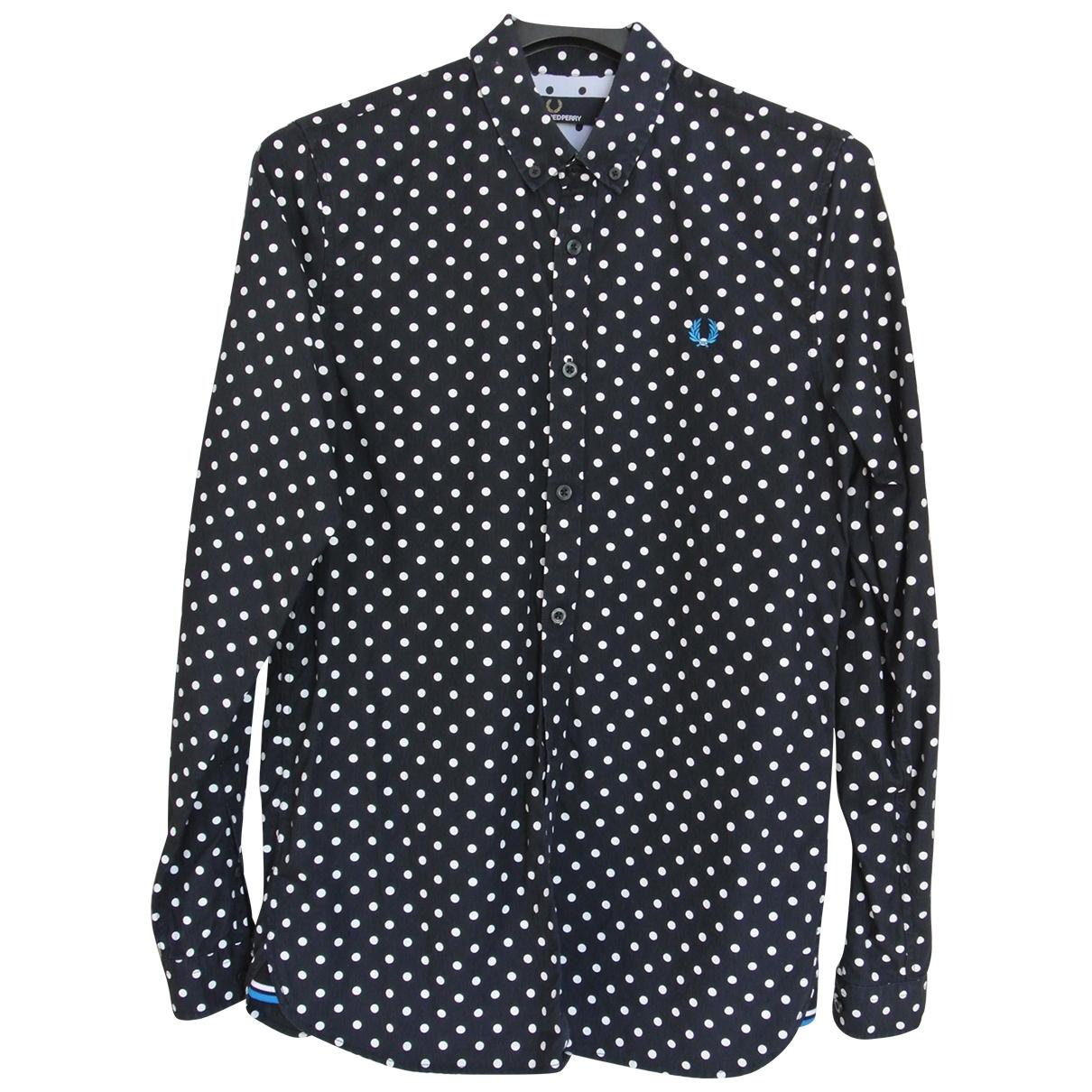 Fred Perry - Chemises   pour homme en coton - noir