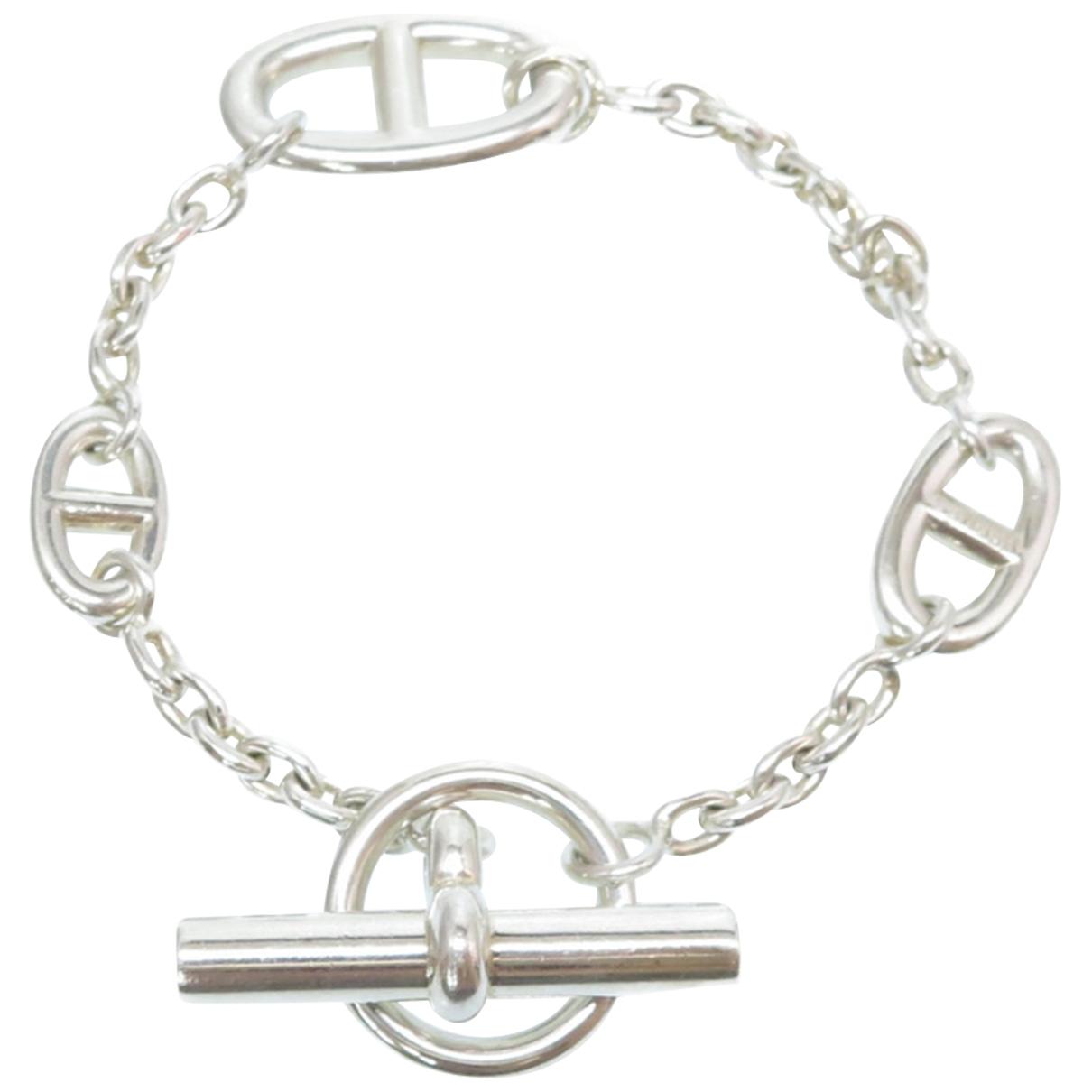 Hermes - Bracelet Chaine d'Ancre pour femme en argent - argente