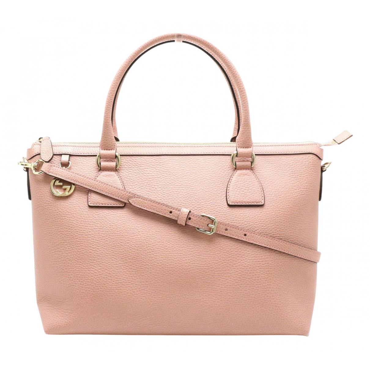 Gucci N Pink Leather handbag for Women N