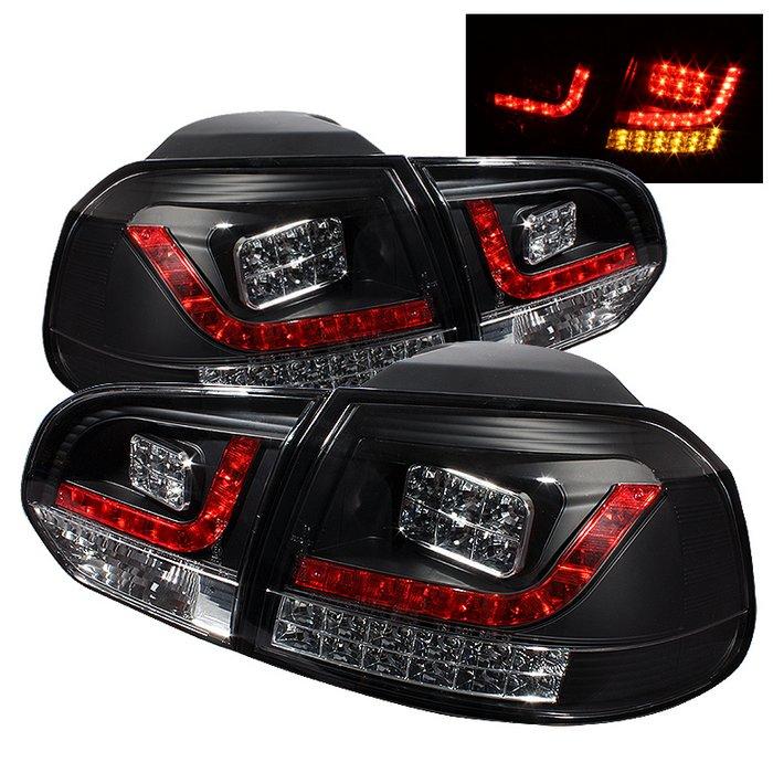 Spyder LED Black Tail Lights Volkswagen Golf GTI 10 Up