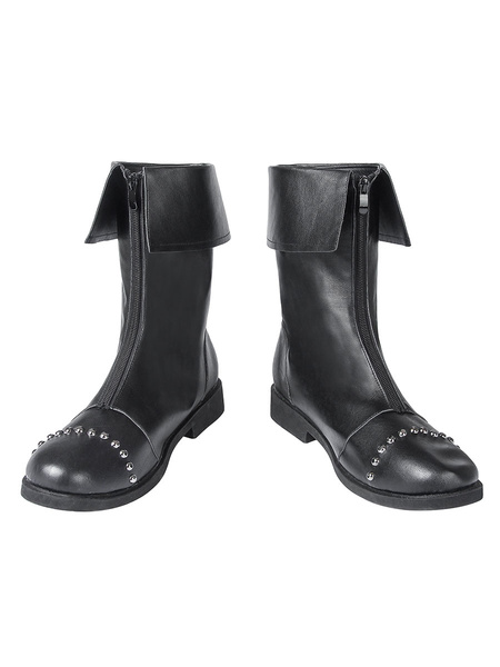 Milanoo Cloud Strife Cosplay Boots Rivet PU Final Fantasy VII Crisis Core Remake Cosplay Shoes