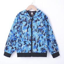 Boys All Over Print Zip Up Hooded Jacket