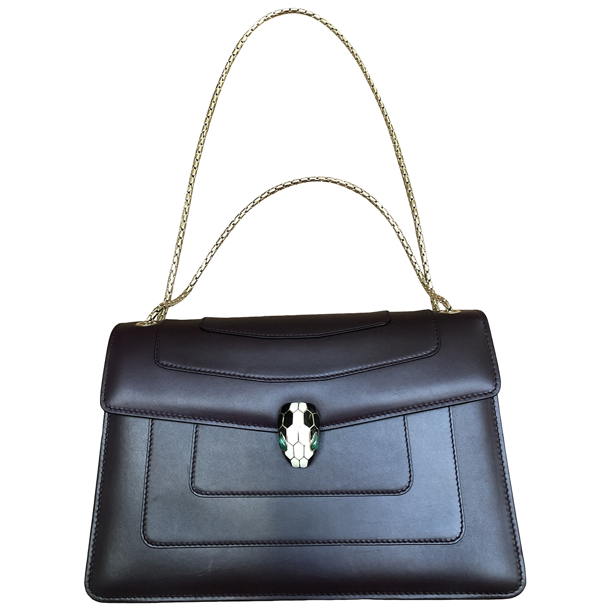 Bvlgari Serpenti Purple Leather handbag for Women \N