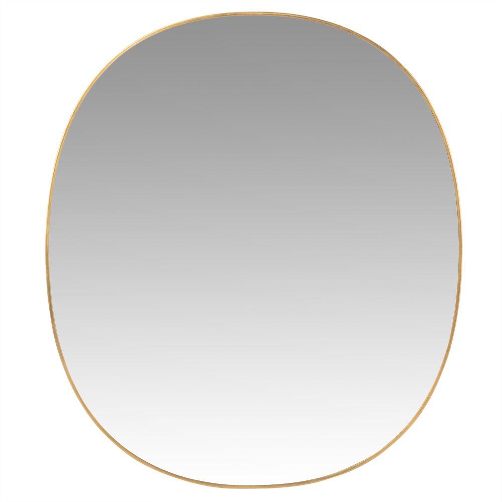 Spiegel mit goldfarbenem Rahmen aus Recyclingmetall 35x40