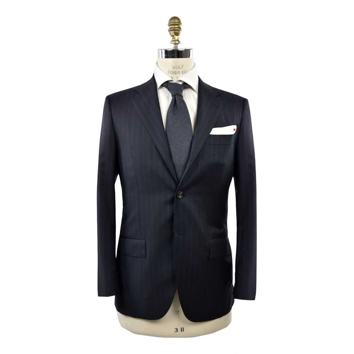 Kiton \N Blue Wool Suits for Men 52 IT