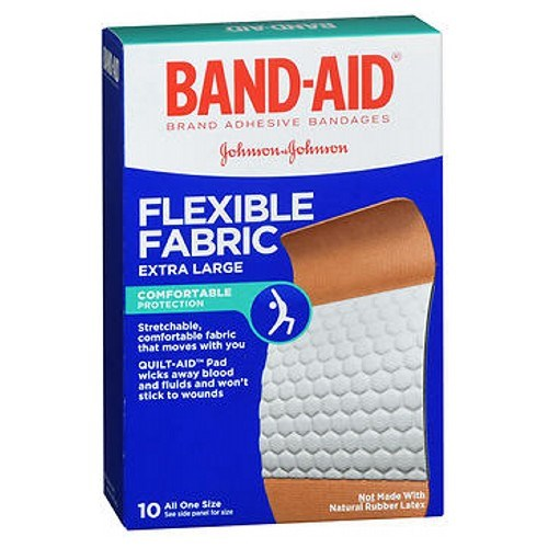 Band-Aid Flexible Fabric Adhesive Bandages Extra Large 10 each by Band-Aid