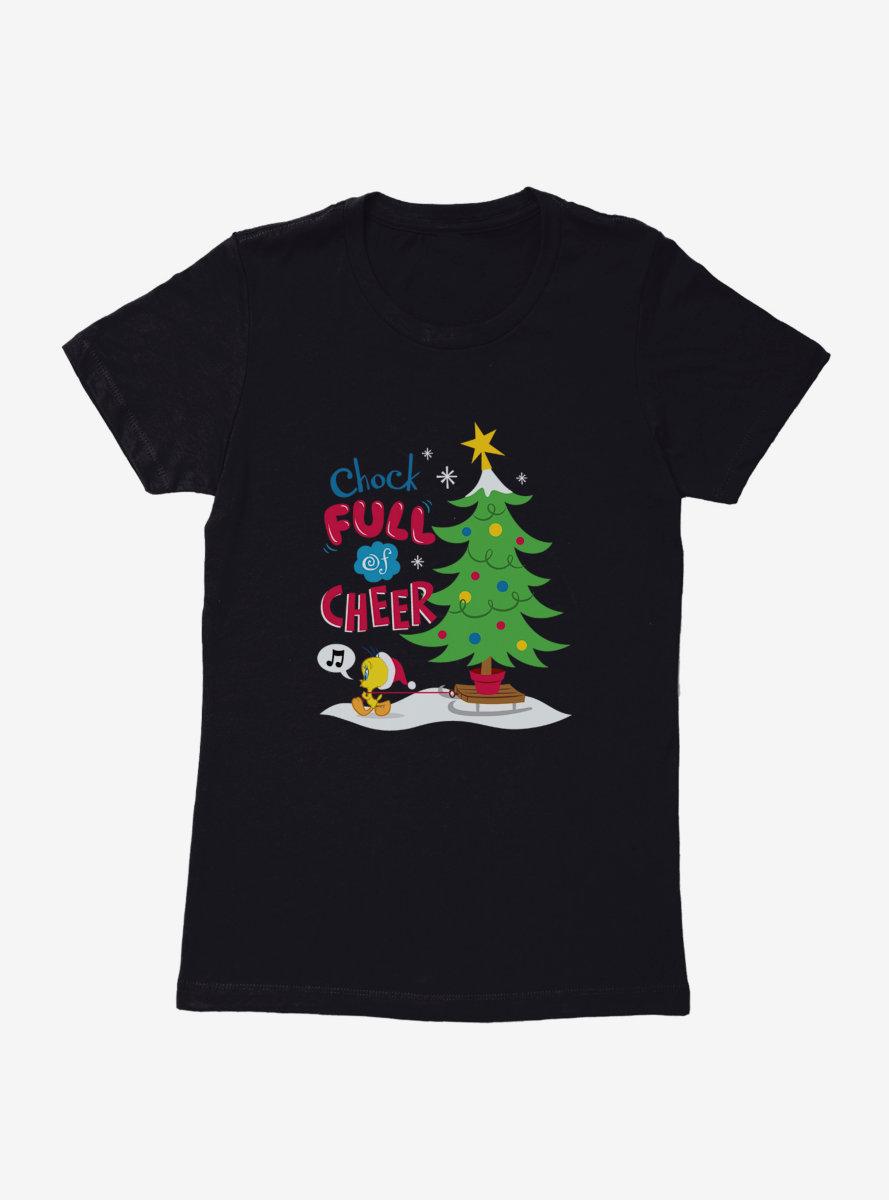 Looney Tunes Holiday Full Of Cheer Womens T-Shirt