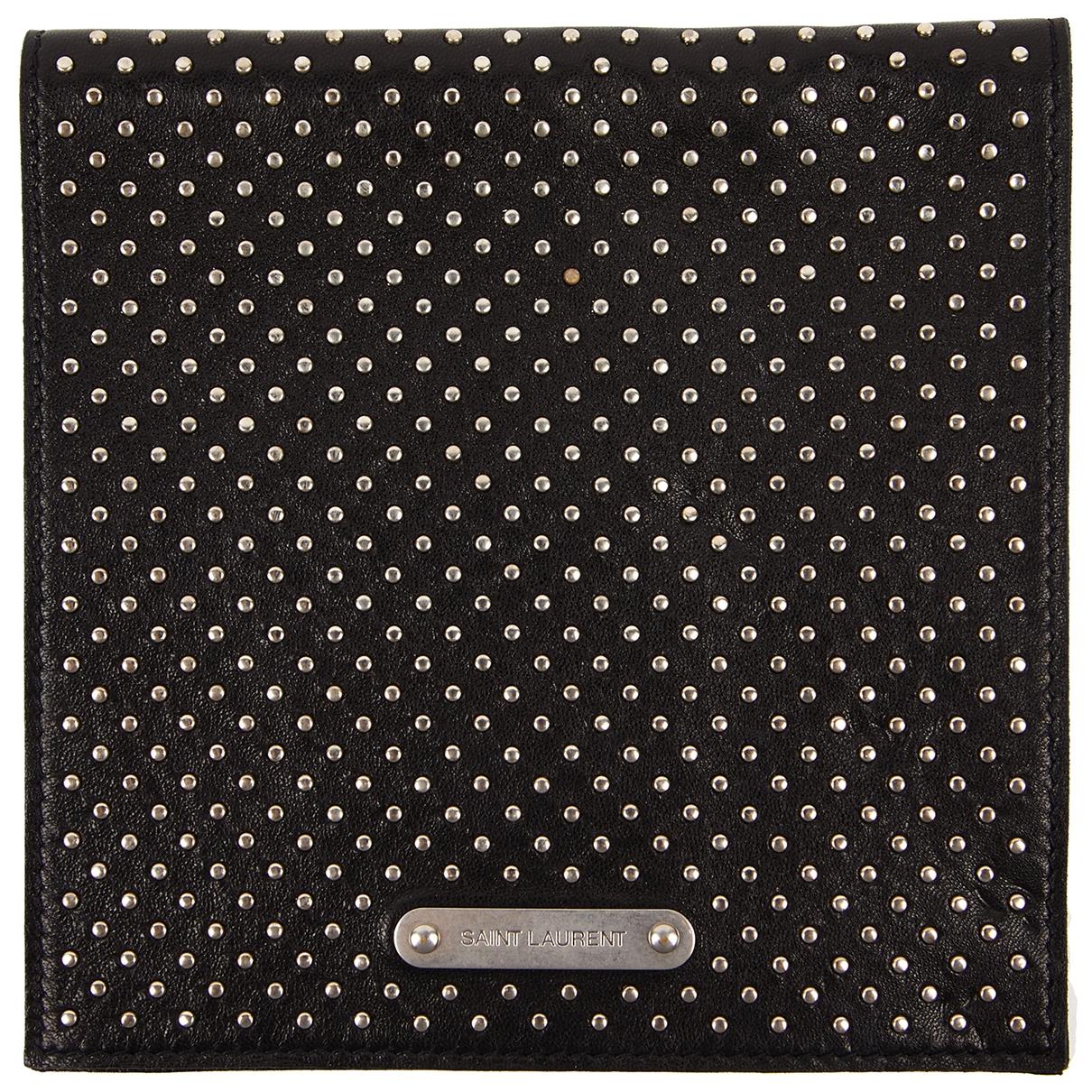 Saint Laurent \N Black Leather Purses, wallet & cases for Women \N