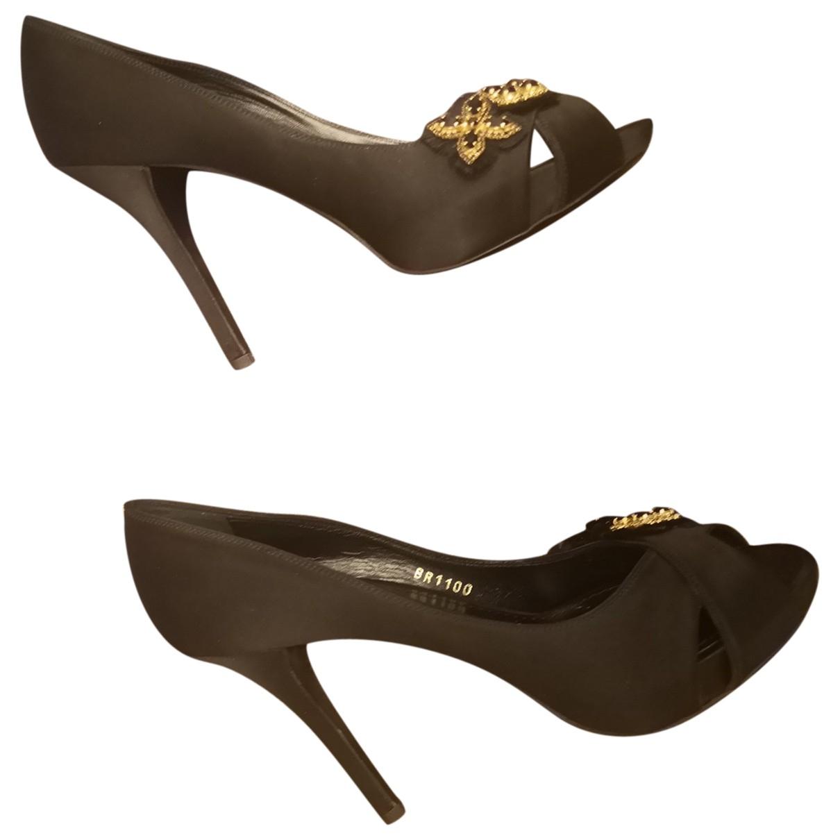 Louis Vuitton - Escarpins   pour femme en cuir - noir