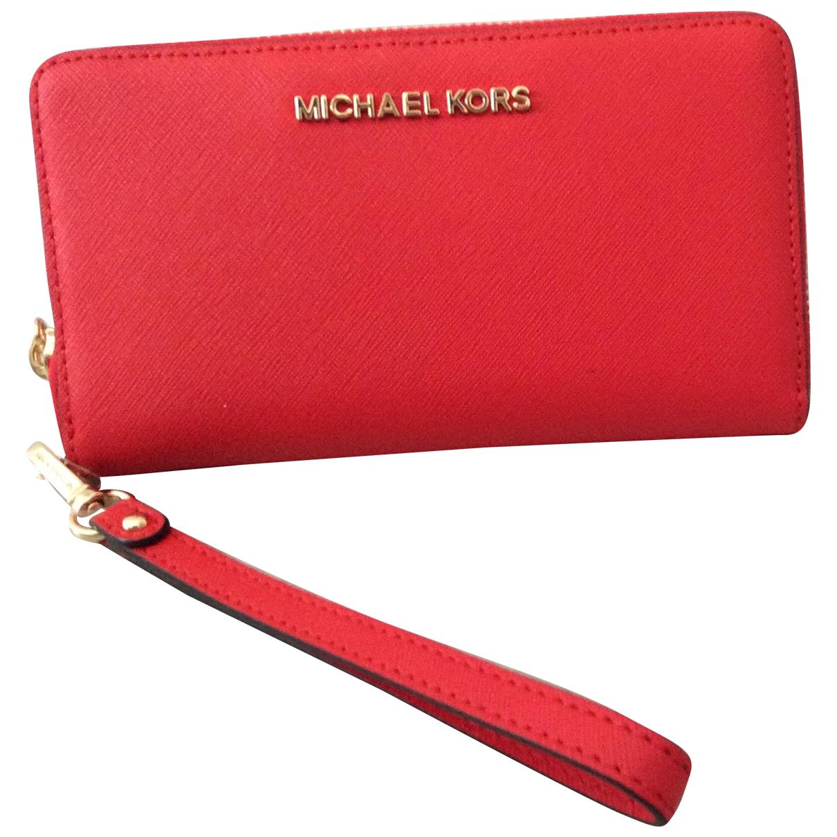 Michael Kors \N Red Fur wallet for Women \N