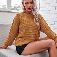 Drop Shoulder Solid Sweater