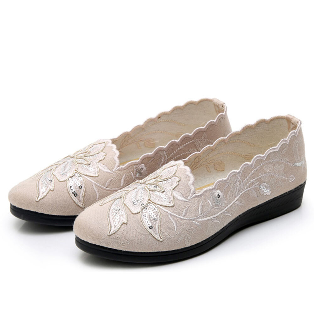 Women Stitching Soft Sole Slip On Casual Flat Loafers