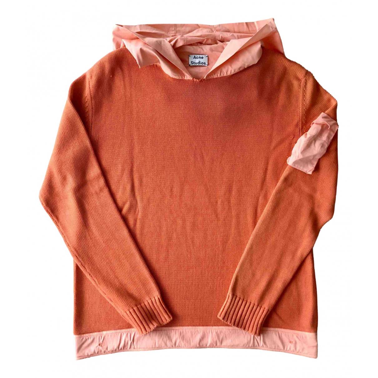 Acne Studios \N Pullover.Westen.Sweatshirts  in  Orange Baumwolle