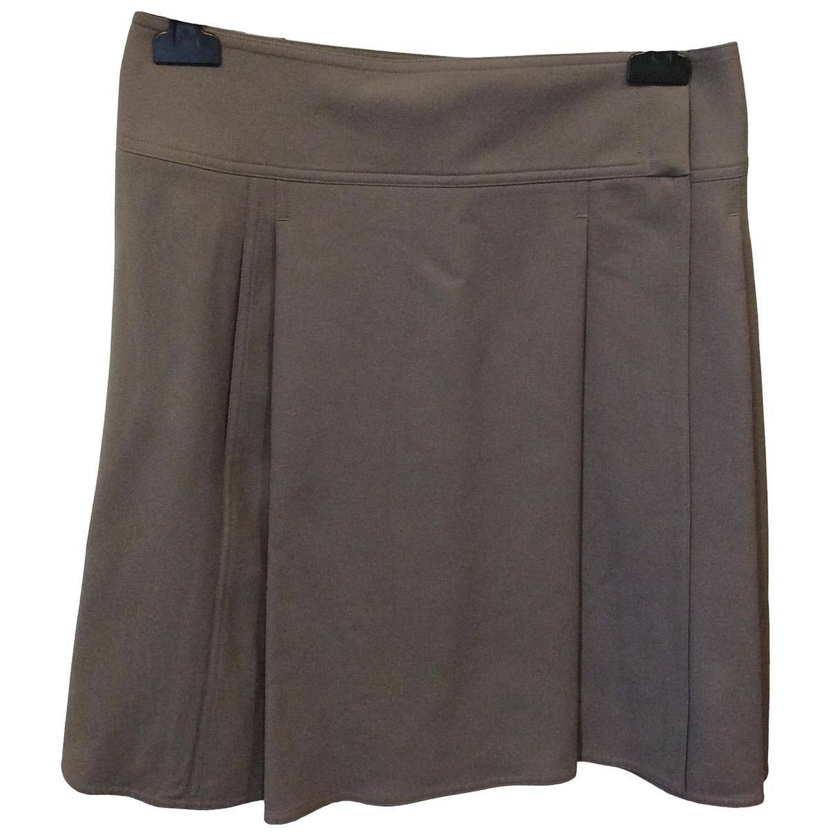 Hermes - Jupe   pour femme en laine - gris