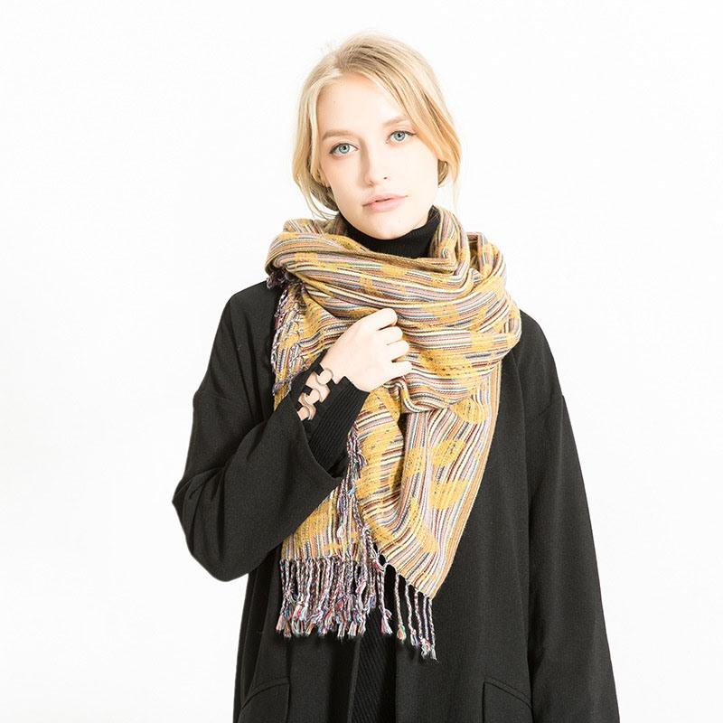 Ericdress Imitation Cashmere Rectangle Stripe Scarves