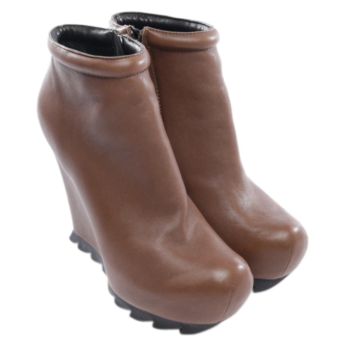 Camilla Skovgaard - Boots   pour femme en toile - marron
