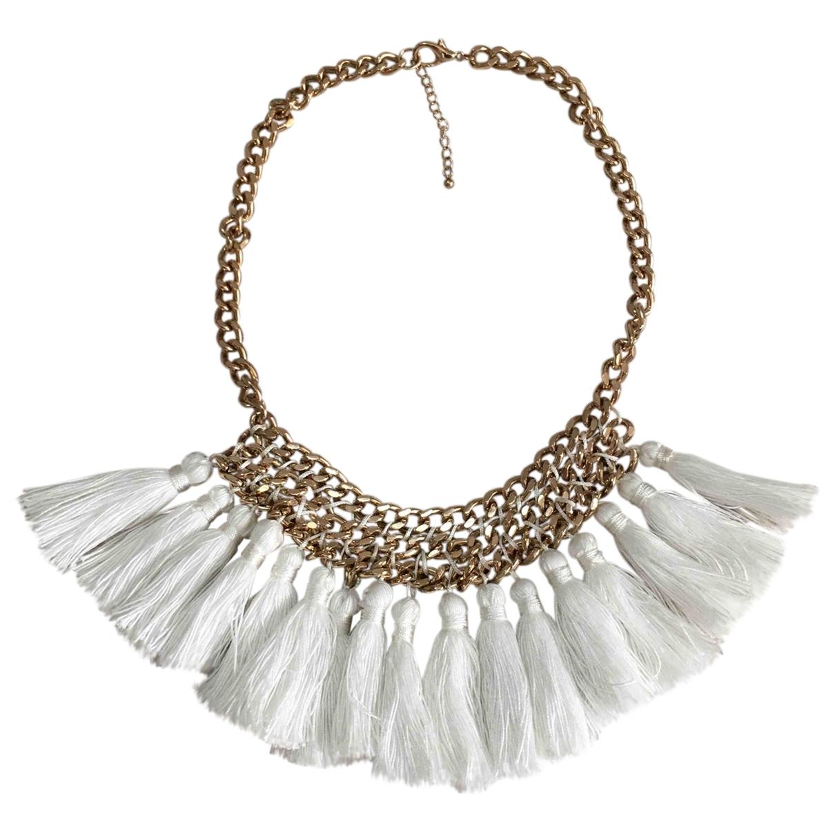 Mango \N White Steel necklace for Women \N