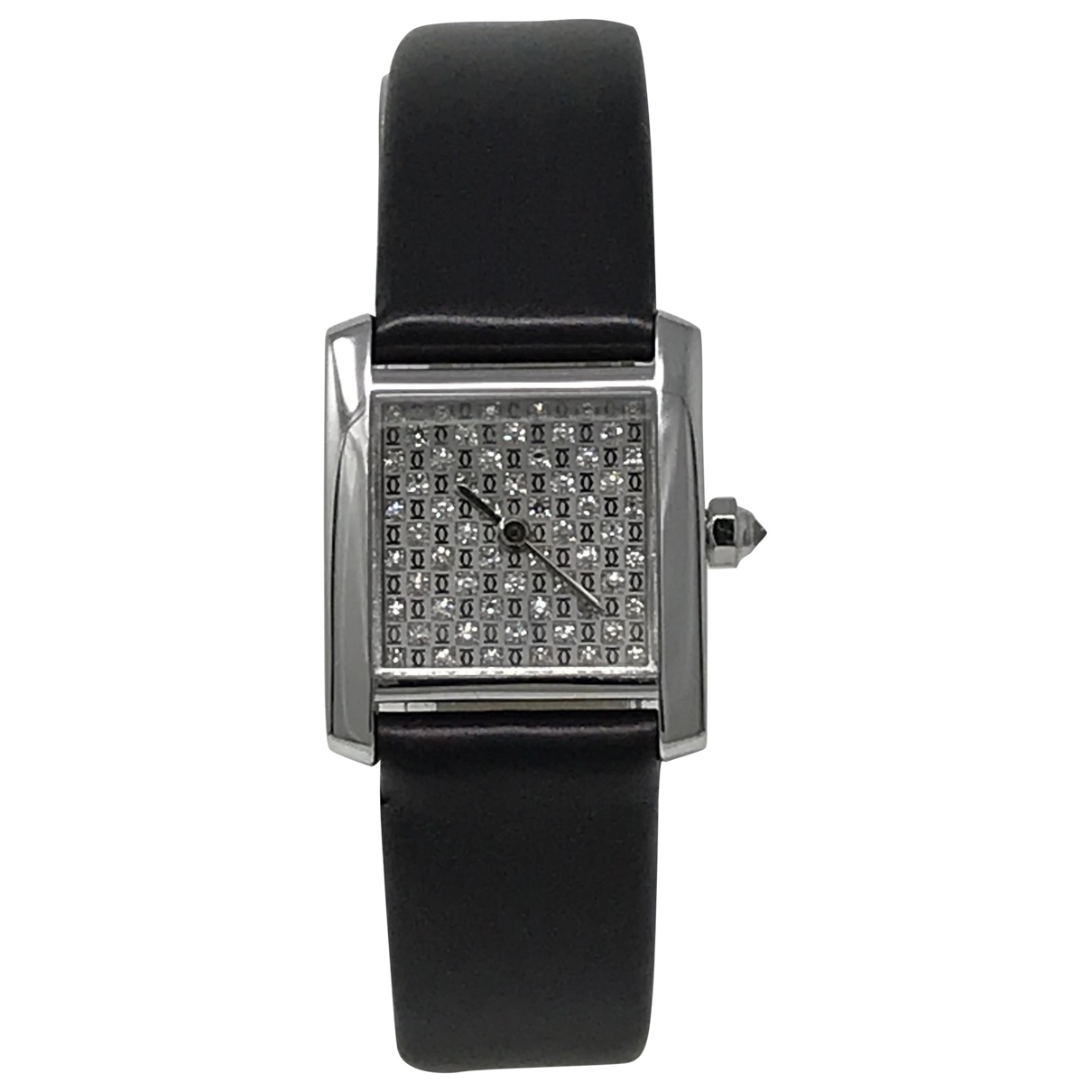 Cartier Tank Francaise Uhr in  Anthrazit Weissgold
