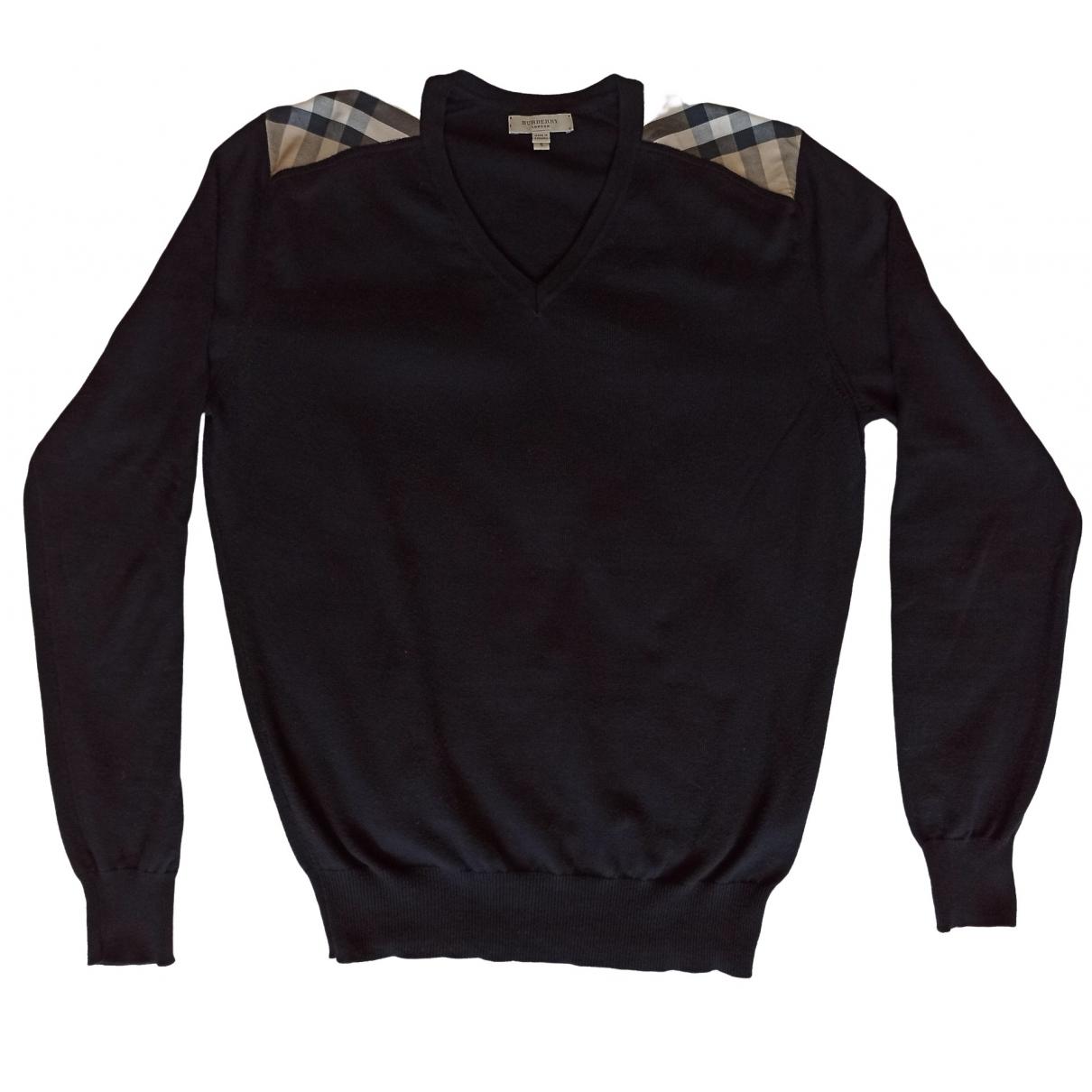 Burberry - Pulls.Gilets.Sweats   pour homme en coton - noir