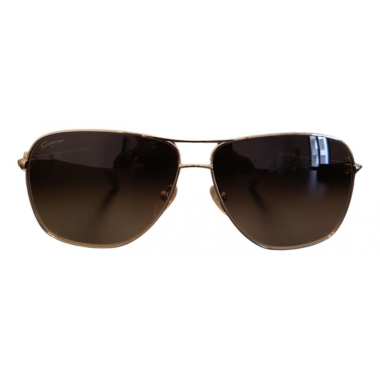 Salvatore Ferragamo N Gold Metal Sunglasses for Men N