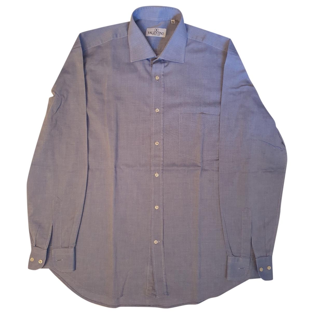 Valentino Garavani \N Hemden in  Blau Baumwolle