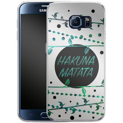 Samsung Galaxy S6 Silikon Handyhuelle - Hakuna Matata von Statements