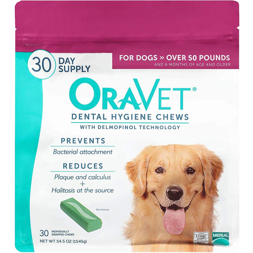 OraVet Dental Hygiene Chews - Large Over 50 lbs (30 Count)