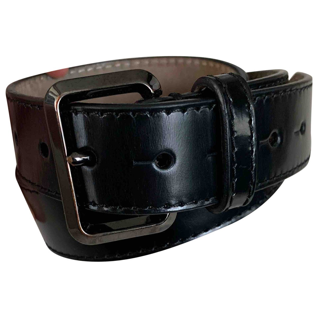 Burberry N Black Leather belt for Women 80 cm
