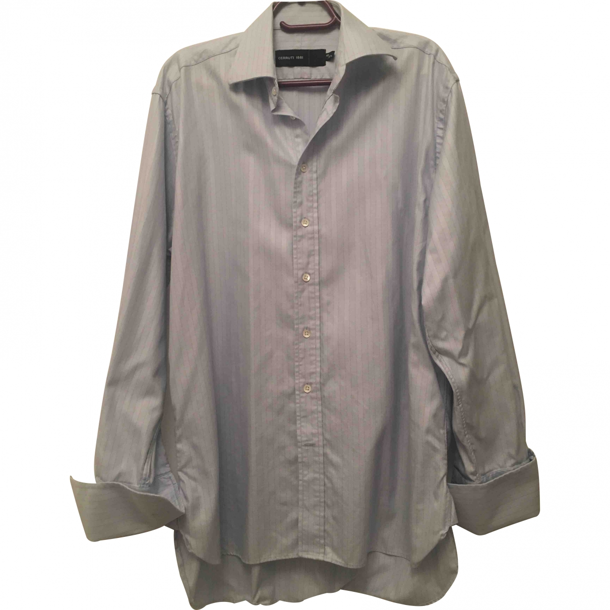 Cerruti \N Blue Cotton Shirts for Men 40 EU (tour de cou / collar)