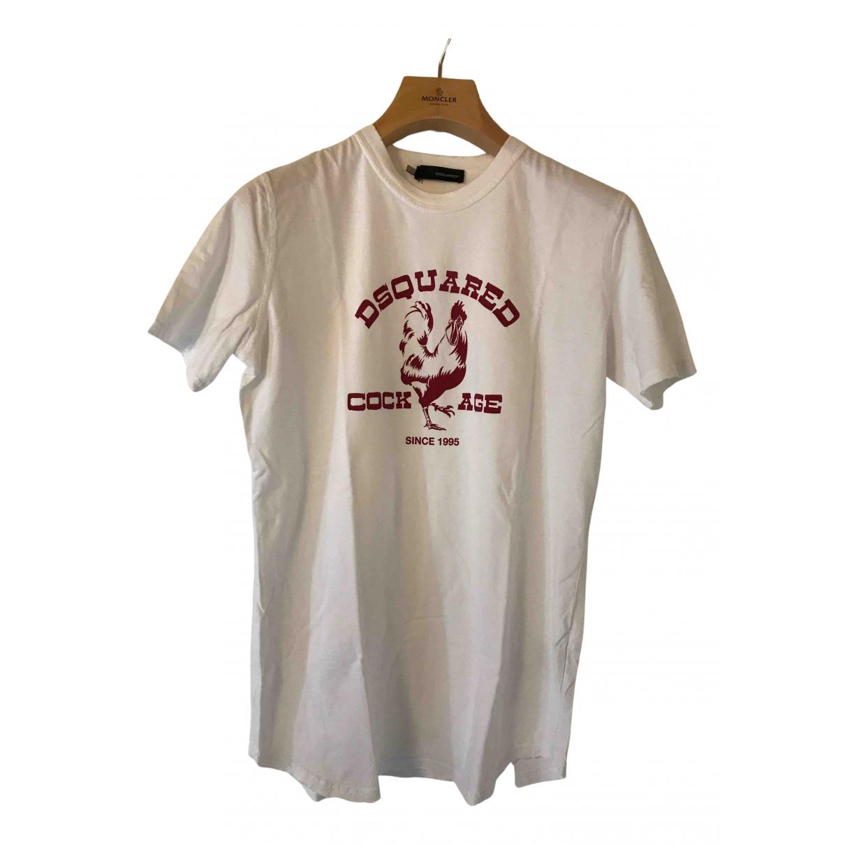 Dsquared2 - Tee shirts   pour homme en coton - blanc
