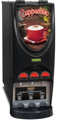 36900.0050 iMIX-3 Black Hot Beverage System With 3 Hoppers  LED Lighted Front Graphics  Night Mode  in Stainless