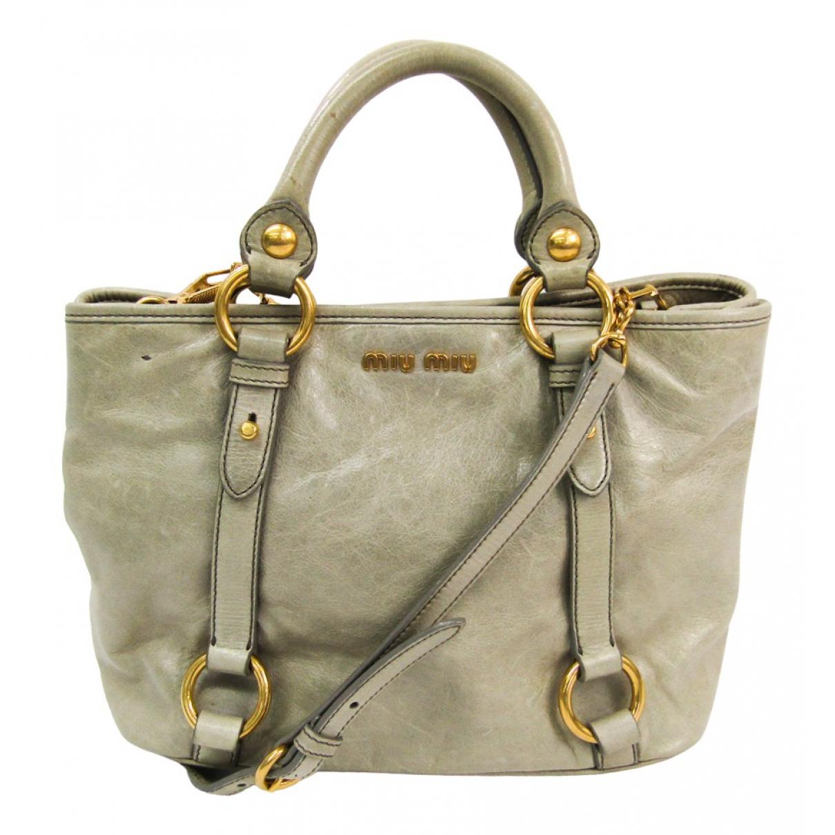 Miu Miu \N Grey Leather handbag for Women \N
